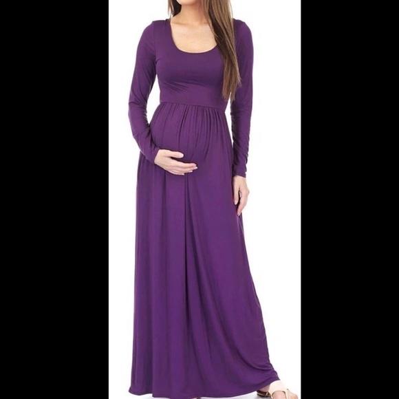 Dresses Purple Maternity Dress Poshmark
